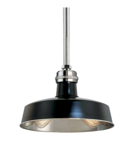 Hudson Valley 8614-Bpn Hudson Falls 2 Light Pendant In Black/Polished Nickel