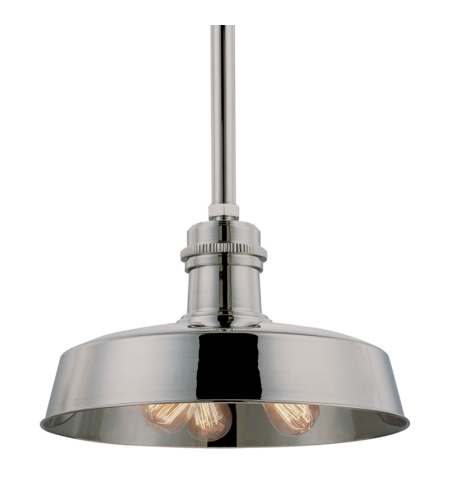 Hudson Valley 8618-Pn Hudson Falls 3 Light Pendant In Polished Nickel