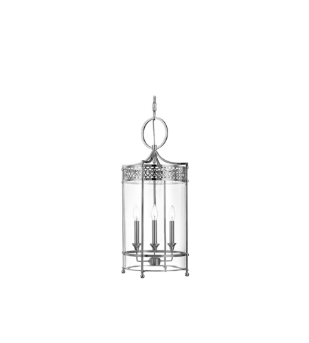Hudson Valley 8993-PN Amelia 3 Light Pendant in Polished Nickel