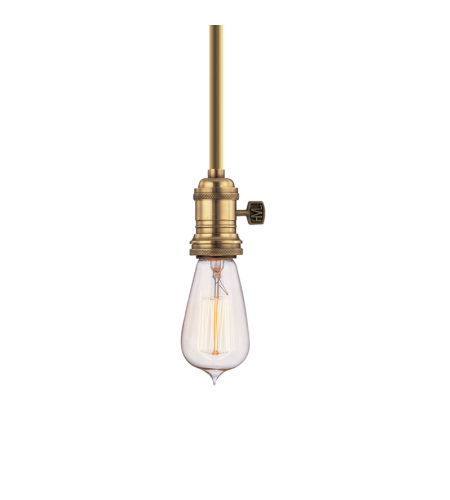 Hudson Valley 9001-Agb Heirloom 1 Light Pendant In Aged Brass