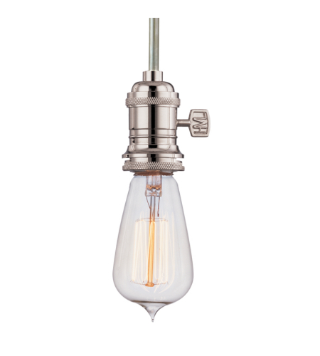 Hudson Valley 9001-Pn Heirloom 1 Light Pendant In Polished Nickel