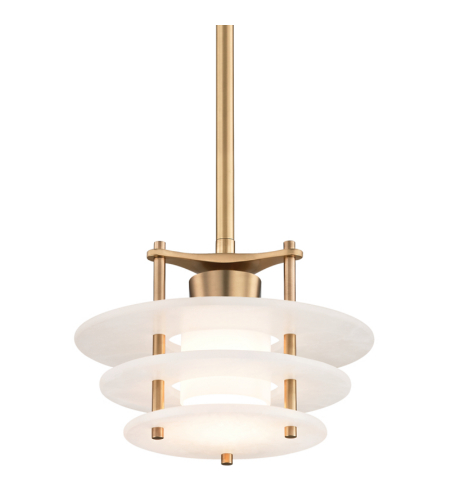 Hudson Valley 9012-Agb Gatsby Led Pendant In Aged Brass