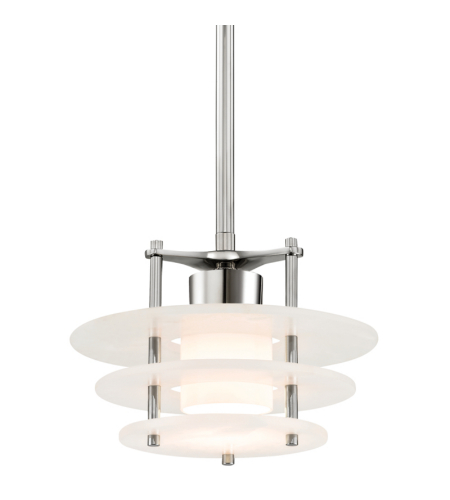 Hudson Valley 9012-Pn Gatsby Led Pendant In Polished Nickel