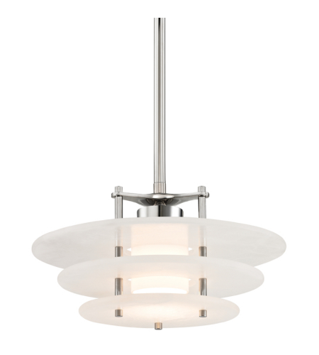 Hudson Valley 9016-Pn Gatsby Led Pendant In Polished Nickel