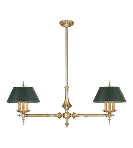 Hudson Valley 9512-Agb Cheshire 6 Light Island In Aged Brass