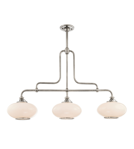 Hudson Valley 9813-Pn Canton 3 Light Island In Polished Nickel