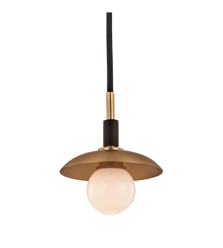 Hudson Valley 9821-Agb Julien 1 Light Pendant In Aged Brass