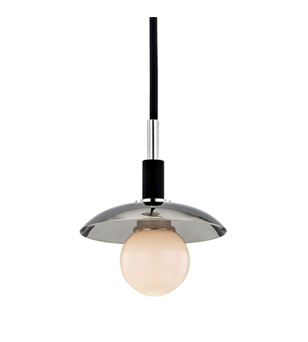 Hudson Valley 9821-Pn Julien 1 Light Pendant In Polished Nickel