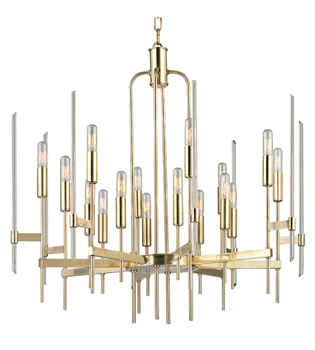 Hudson Valley 9916-AGB Bari 16 Light Chandelier in Aged Brass