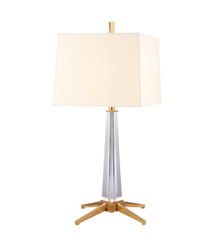 Hudson Valley L387-Agb-Ws Hindeman 1 Light Table Lamp In Aged Brass
