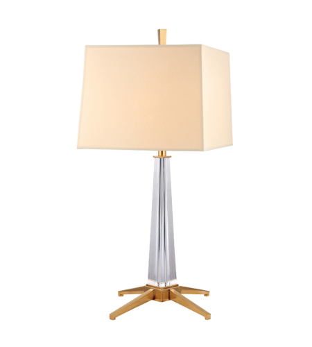 Hudson Valley L387-Agb Hindeman 1 Light Table Lamp In Aged Brass