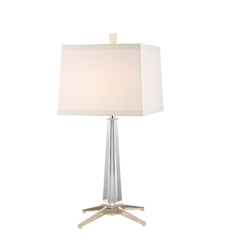 Hudson Valley L387-Pn-Ws Hindeman 1 Light Table Lamp In Polished Nickel
