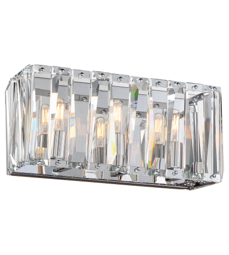Metropolitan N1753-77 Chrome 3 Light Bath