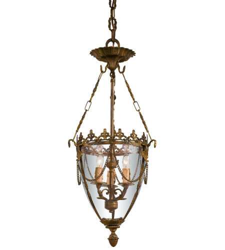 Metropolitan N2337-OXB Signature 3 Light Pendant in Antique Bronze Patina