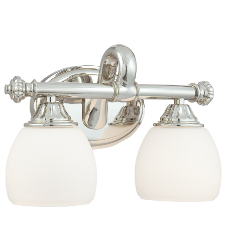 Metropolitan N2822-613 Signature Bathroom Vanity Lights 2 Light Bath in Polished Nickel