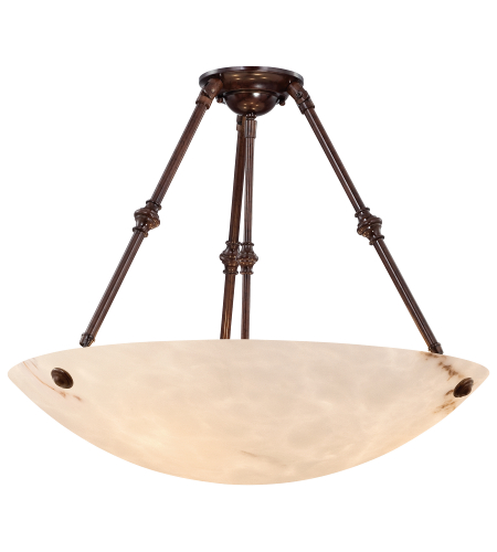 Metropolitan N3715-BP Virtuoso II 5 Light Semi-Flush Mount in Bronze Patina