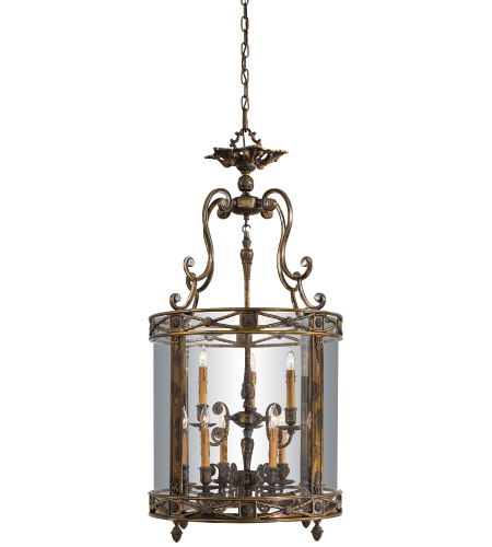 Metropolitan N3906 Oxide Brass 9 Light Foyer Pendant
