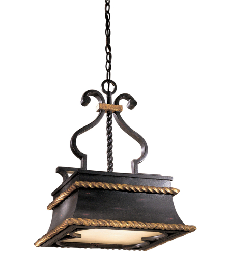 Metropolitan N6111-20 Montparnasse 3 Light Island Light in French Black w/Gold Highlights