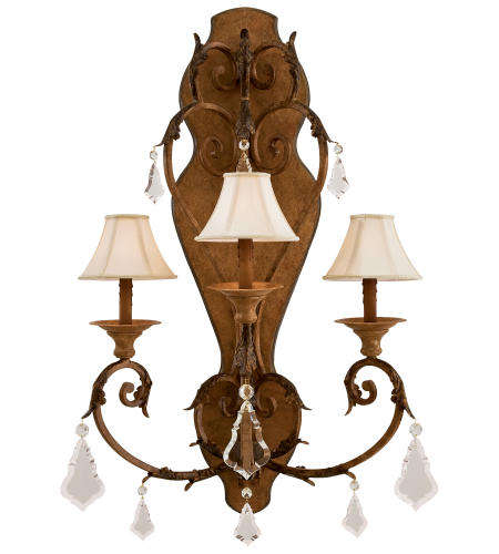 Metropolitan N6222-363 Signature Wall Sconces 3 Light Sconce in Padova (shade sold separately)