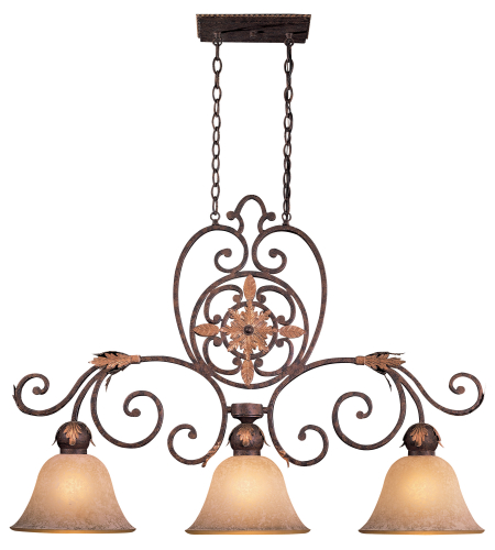 Metropolitan N6233-355 Golden Bronze 3 Light Island Light