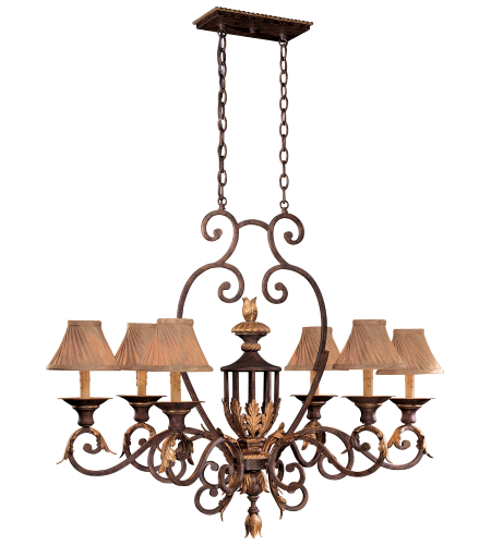 Metropolitan N6234-355 Golden Bronze 6 Light Island Light