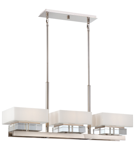 Metropolitan N6266-613 Polished Nickel 6 Light Island Light