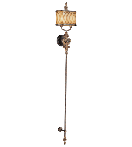 Metropolitan N6482-270 Terraza Village Aged Patina W/ Gold Leaf Accents 2 Light Wall Torchiere