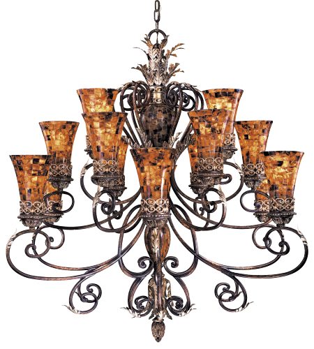 Metropolitan N6519-468 Salamanca 15 Light Chandelier in Cattera Bronze