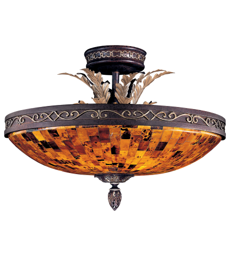 Metropolitan N6520-468 Salamanca 6 Light Semi Flush in Cattera Bronze