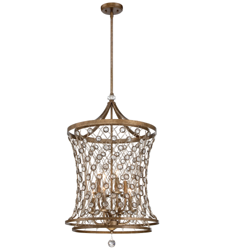 Metropolitan N6588-272 Vel Catena 6 Light Pendant in Arcadian Gold