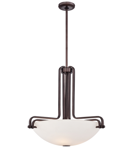Metropolitan N6623-590 Industrial Pendants 3 Light Pendant in Bronze