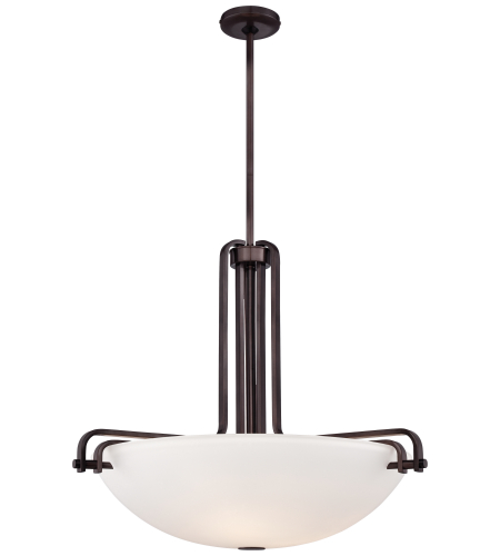 Metropolitan N6624-590 Industrial Pendants 3 Light Pendant in Bronze