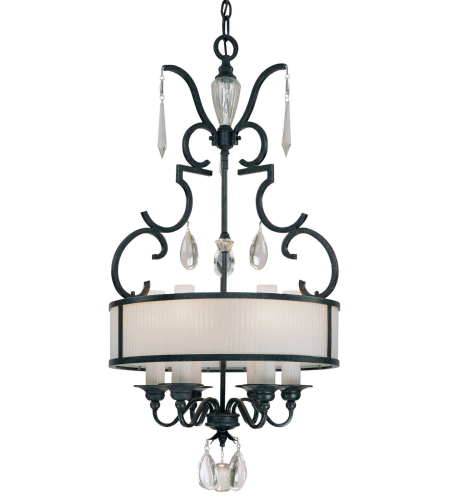 Metropolitan N6701-254 Castellina 6 Light Pendant in Steel