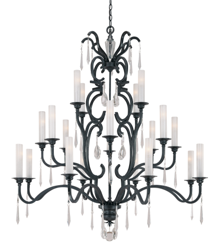 Metropolitan N6704-254 Castellina 20 Light Chandelier in Steel