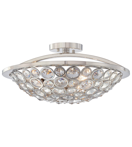 Metropolitan N6750-613 Magique 3 Light Semi Flush in Polished Nickel