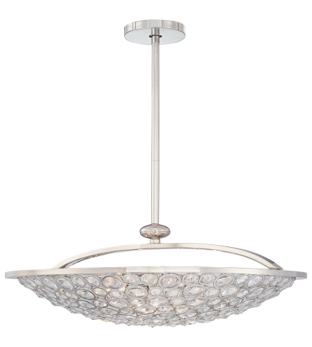 Metropolitan N6753-613 Magique 5 Light Pendant in Polished Nickel