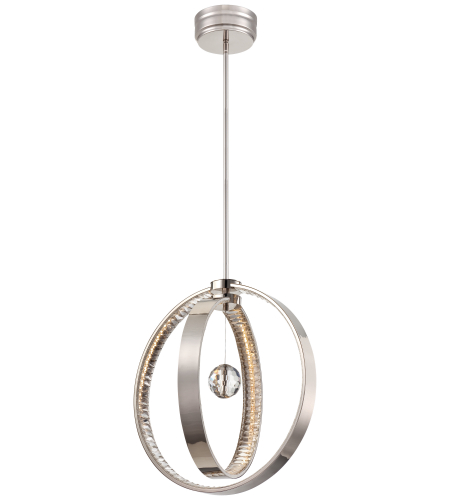 Metropolitan N6994-613-L Polished Nickel Led Chandelier