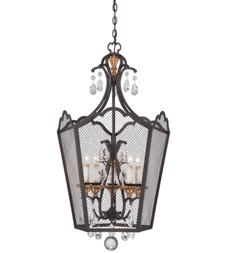 Metropolitan N7105-258b French Bronze W/ Gold Highlights 5 Light Foyer Pendant
