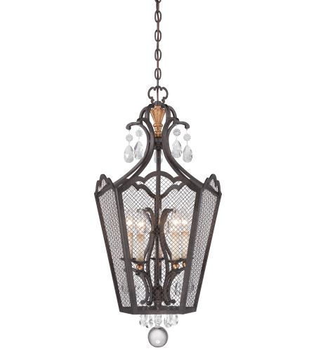 Metropolitan N7109-258b French Bronze W/ Gold Highlights 5 Light Foyer Pendant