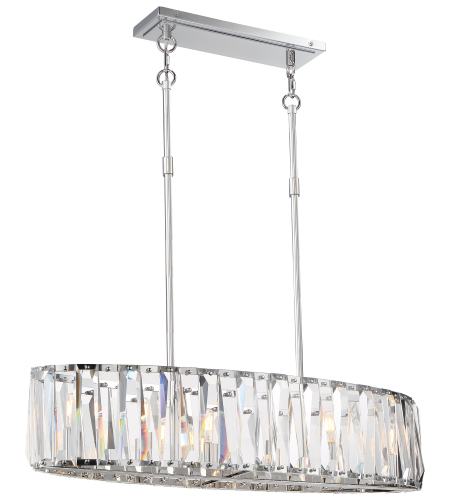 Metropolitan N7506-77 Chrome 6 Light Island