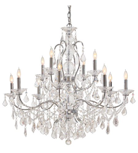 Metropolitan N8008 Signature 12 Light Chandelier in Chrome