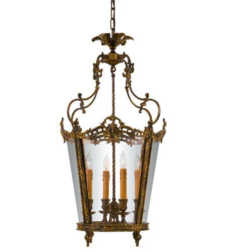 Metropolitan N851204-Oxb Oxide Brass 4 Light Foyer Pendant
