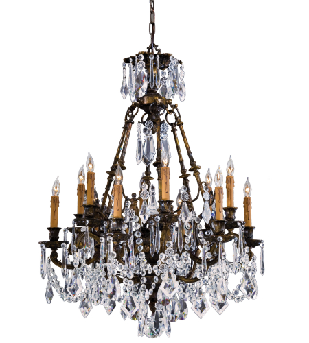 Metropolitan N9066 Signature 12 Light Chandelier in Oxide Brass