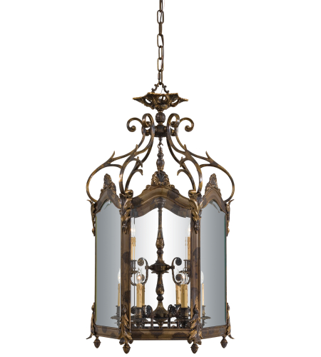 Metropolitan N952011 Oxide Brass 9 Light Foyer Pendant