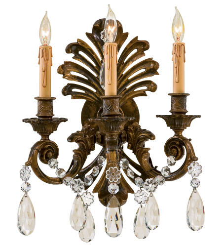 Metropolitan N952013 Signature 3 Light Sconce in Oxidized Brass