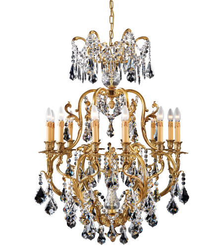 Metropolitan N9701 French Gold 12 Light Chandelier