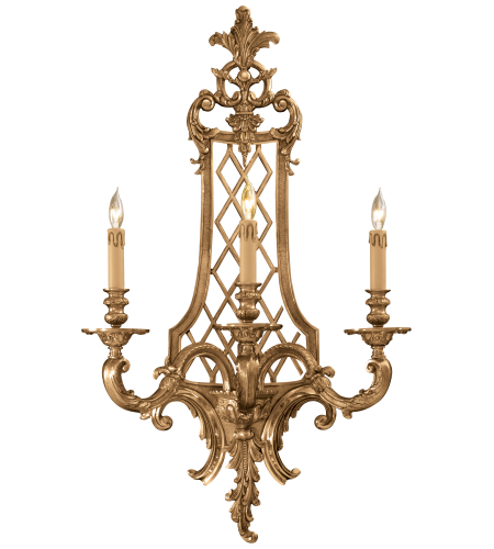 Metropolitan N9803 Signature 3 Light Sconce in French Gold