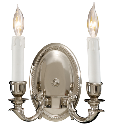 Metropolitan N9809-PC Signature 2 Light Sconce in Polished Chrome