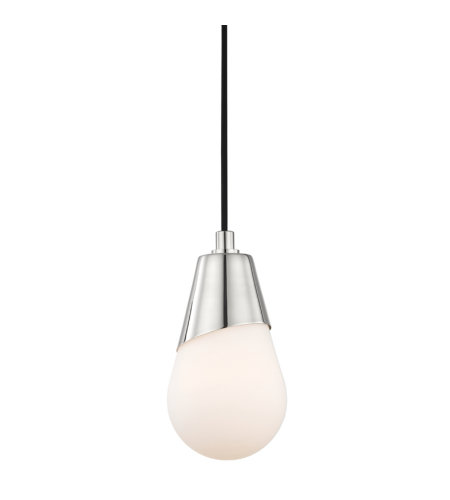 Mitzi by Hudson Valley Lighting H101701-PN Cora 1 Light Pendant in Polished Nickel