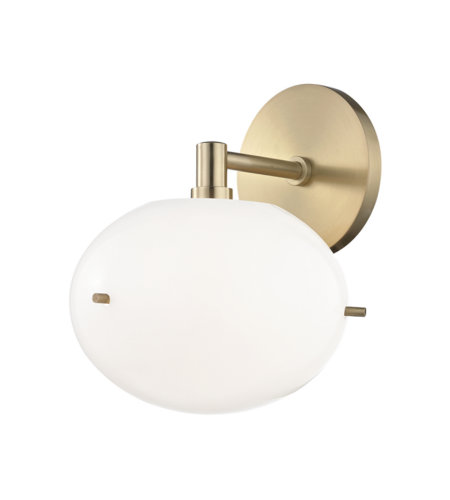 Mitzi by Hudson Valley Lighting H102101-AGB Winnie 1 Light Wall Sconce in Aged Brass